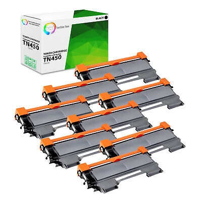 TCT 8PK TN450 High Yield Black Compatible Toner Brother HL 2240 MFC 7360n 7860dw