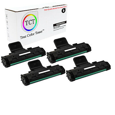 TCT 4PK Black MLT-D108S Toner Cartridges Samsung ML-1640 ML-2240 printer series