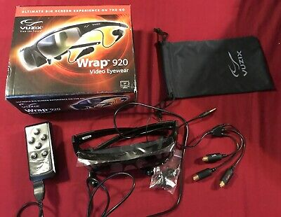 Vuzix 329T00011 Wrap 920 2d-3d Video Movie Theater Experience Glasses System