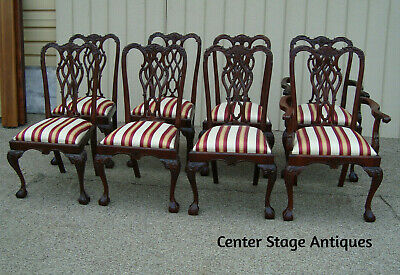 60190  Set 8 Solid Mahogany Dining Chair s Chairs