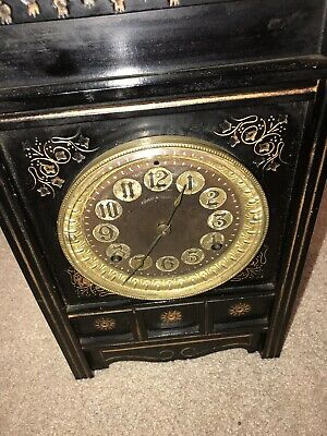 Rare One of a Kind Antique Ansonia Mechanical Iron Mantel Clock