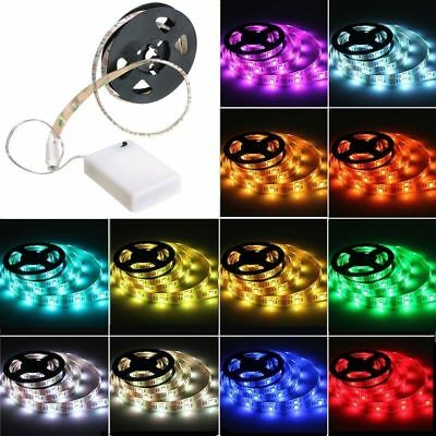 RGB SMD 5050 LED Strip Light Color Changing+Battery Box Mini Control Waterproof