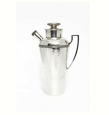 Art Deco Hand-Hammered Silverplate Cocktail Shaker