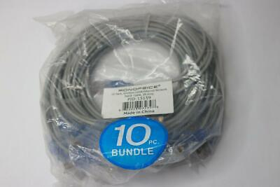 Qty 20 - Mouse Over Image to Zoom 10-Pack-SlimRun-Cat6A-Ethernet-Network-P