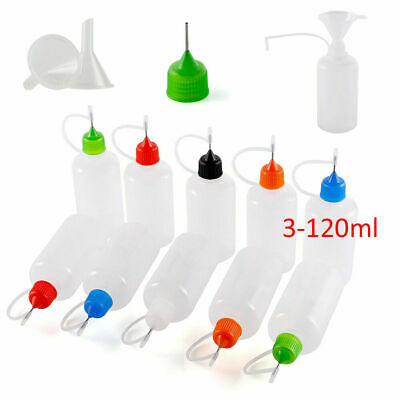3ml-120ml Dropper Bottle Needle Tip Empty Squeeze Juice Liquid Container US A