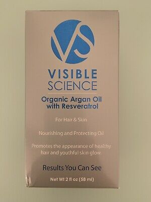 Visible Science Certified Organic Cold Pressed Argan Oil with Resveratrol