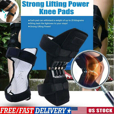 HOT! Power Knee Stabilizer Pads Powerful Rebound Spring Force Support Knee Pad