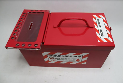Large Portable Group Lock Box-Red (1) 3PDE3
