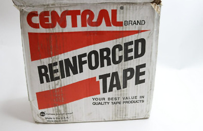 Qty 8 - Central Brand Kraft Reinforced Water Activated Tape 70mm, K8066