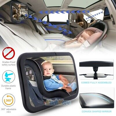 Extra Large Baby Backseat Car Mirror Safe, Secure & Shatterproof Clear Wide View