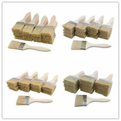 20Pcs Wood Chip Brush 4 Size suit Oil Stain Wax Varnish for Wall Painting