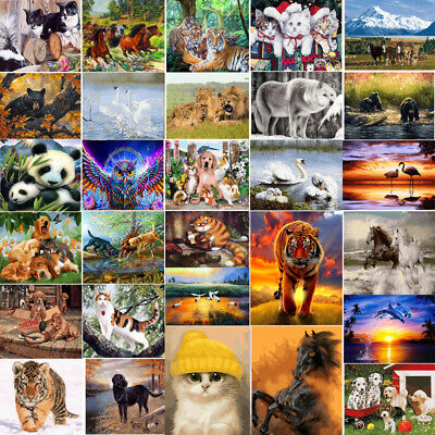 DIY Animals Acrylic Paint By Number Kit Oil Painting Canvas Art Wall Home Decor
