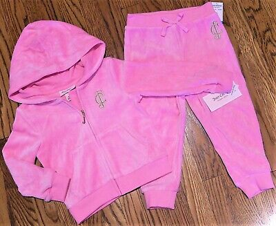 JUICY COUTURE AUTHENTIC BABY KIDS GIRLS BRAND NEW ORIGINAL PINK SET Size 24M NWT