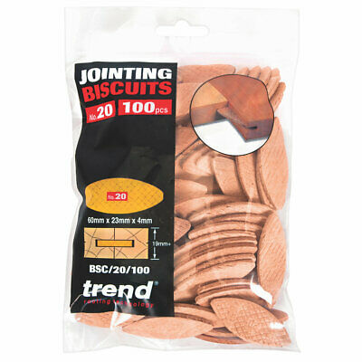 NEW Trend No. 20 Jointing Biscuits 100 Pack UK SELLER, FREEPOST