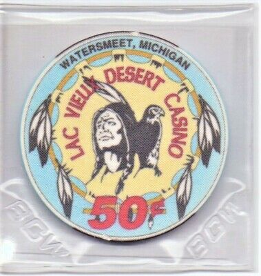 Lac Vieux Desert Casino Watersmeet Michigan 50 Cent Gaming Chip As Pictured
