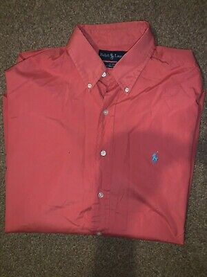 Men's POLO RALPH LAUREN Blake Casual Long Sleeve Collared Red Large Shirt