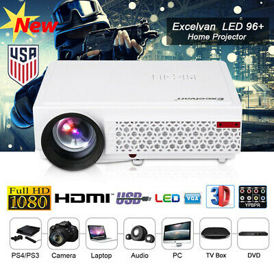 HD 1080P TFT LCD 5000Lumens LED 3D Projector Home Theater HDMI*2 / USB*2 /VGA/TV
