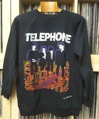 Vintage Tres Rare 80'S  Sweat graphic TELEPHONE Groupe Rock french