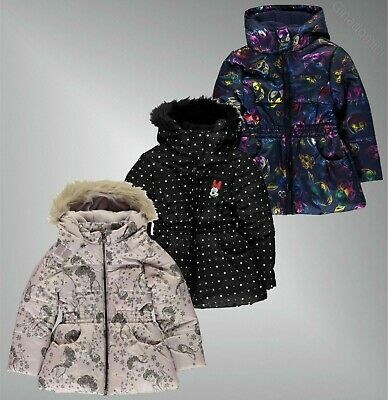 Girls Character Full Zip Long Sleeves Padded Coat Sizes Age from 2 to 12 Yrs