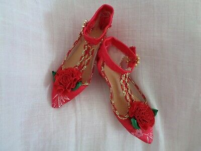 Handcrafted Detailed Beautiful Vintage Dolls Shoes