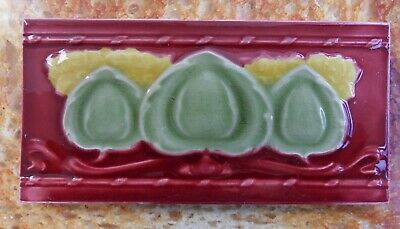 "Original  English  Art Nouveau tile , c1906  6'X3""Tile  ref Q9"