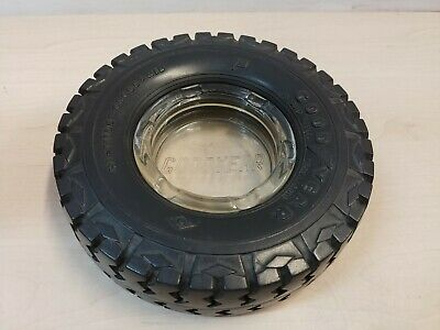 Vintage Goodyear Tyres Glass Ashtray in Rubber Tire South Africa @5D