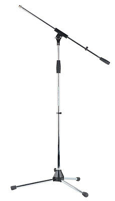 Support Trepied Bati Microphone Micro DJ PA Ajustable Hauteur max. 220cm Chrome