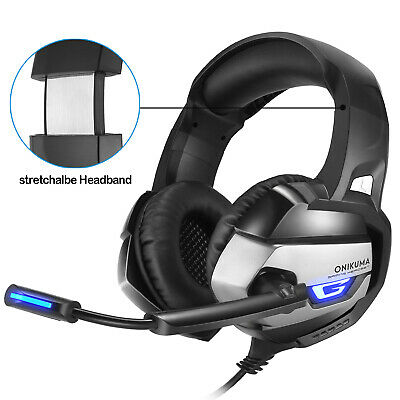 3.5mm Gaming Headset LED Headphones K5 For PC Laptop PS4 Pro Xbox One With Mic