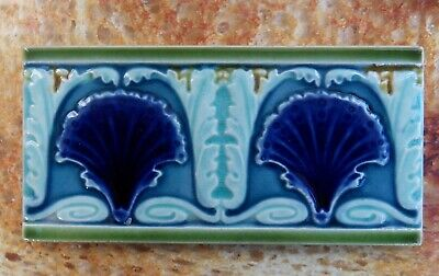 "Original  English  Art Nouveau tile , c1906/10  6'X3""Tile  ref Q10"