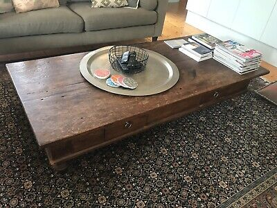 Antique Traditional Wooden Coffee Table
