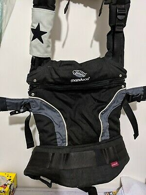 Manduca Baby Carrier - Black - Excellent Condition - Includes Suck Pads