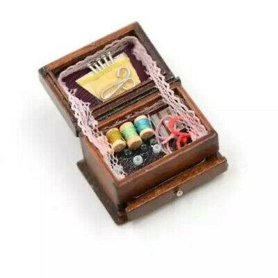 Doll House Accessories 1:12th Miniature Doll House Accessories 1 Mini Sewing Box