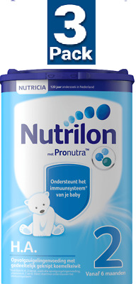 3 x Nutrilon 2 H.A. HYPO-ALLERGENIC :: Follow On Milk  for 6 Mth & Up : NUTRICIA