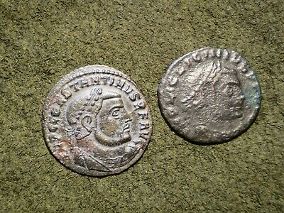 Lot Of 2 X Ancient Roman Imperial Follis Coins.