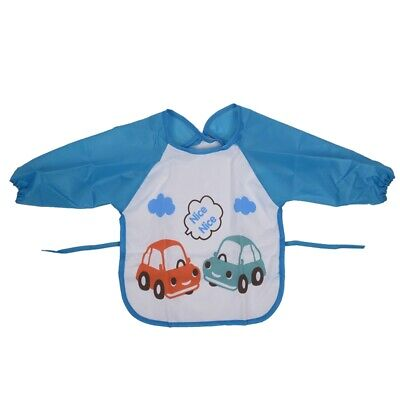 Baby Toddler Waterproof Long Sleeve Children Kids Feeding Art Smock Bib Apr V9A9