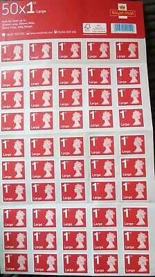 50 1st Class Large Stamps, Full Sheet