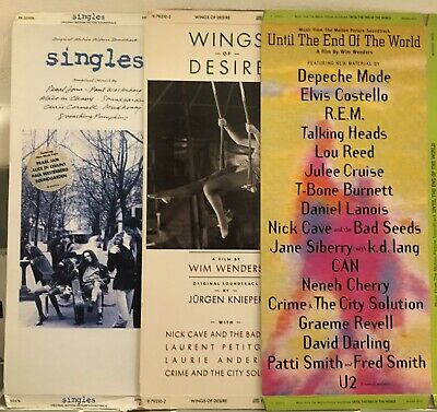 Wings Of Desire • Until The End Of The World • Singles Long Boxes-No CDs