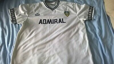 Replica mens football shirt leeds united fc home white xxl chest 44 inches