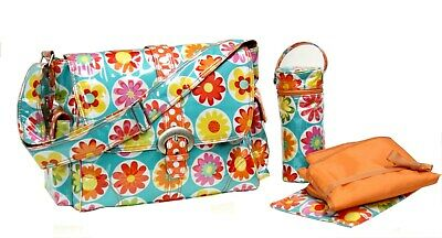 Kalencom Laminated Buckle Changing Bag - Big Daisy