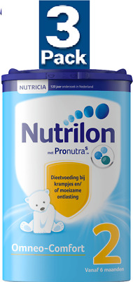 3 x Nutrilon 2 OMNEO-COMFORT for Cramps & Obstipation 6 Mths & Up : NUTRICIA