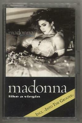 Madonna Like A Virgin - Light Grey Blue Print cassette album UK WX20C SIRE