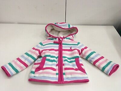 Joules Baby Girl Fleece Lined Cotton Jacket Size 3-6 Months