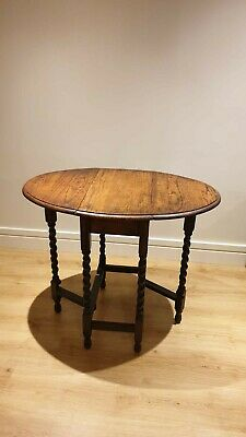 Antique Solid Oak Drop Leaf Table with Gate Legs - Great Conditon
