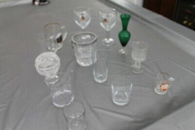 Job Lot 13 Glassware items to clear