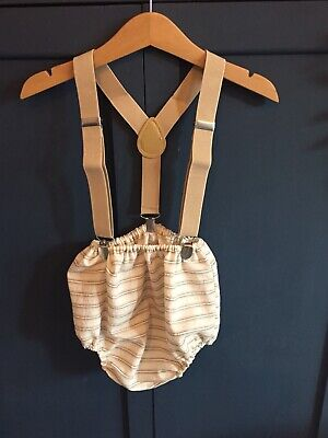 Baby Boys Outfit Handmade With Braces Size 6 / 12 / 18 Months Ideal Wedding
