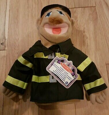 Melissa And Doug Fire Fighter Hand Puppet / Brand New.