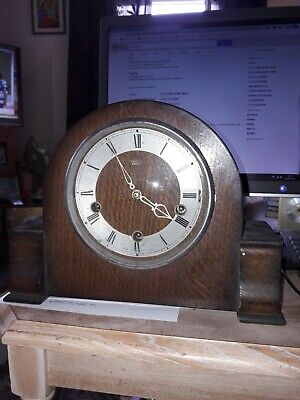 Vintage Smiths Enfield Mantle Clock.Westminster Chimes.