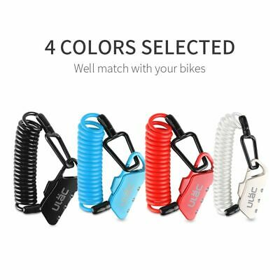 Mini PVC 1400mm Fold Backpack Cycling Helmet Cable Password Bicycle Lock #Z