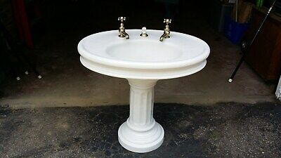 Antique Victorian Pedestal Bathroom Sink