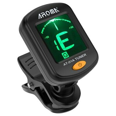 Aroma At-01A Guitar Tuner Rotatable Clip-On Tuner Lcd Display For Chromatic RV1